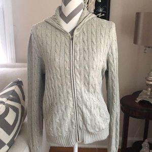 🎉 Ralph Lauren Light Gray Hooded Sweater